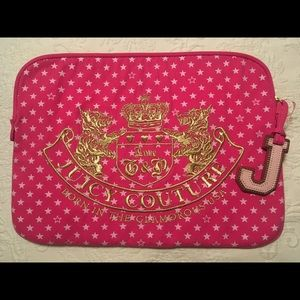 Juicy Couture Large Couture Computer Cover, NWOT!